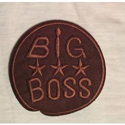 """Термоаппликации СтарТекс Термоаппликация """"BIG BOSS"""" коричневый р. 7,5 см"""