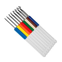 Набор Addi крючков для вязания с пластиковой ручкой addiColours