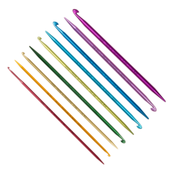 Крючок Addi addiDuett, двусторонний со спицей на конце 4 мм / 15 см