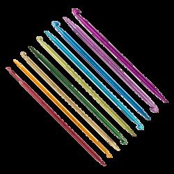 Крючок Addi addiDuett, двусторонний со спицей на конце 6 мм / 15 см