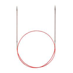 Спицы Addi Круговые с удлиненным кончиком металлические 5 мм / 40 см