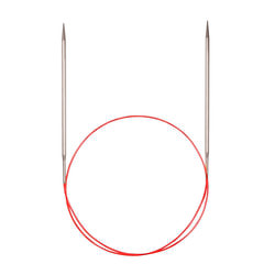 Спицы Addi Круговые с удлиненным кончиком металлические 3 мм / 150 см