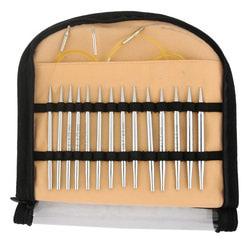 """Набор Knit Pro """"Special Interchangeable Needle Set"""" съемных спиц """"Nova Platina"""" 10см хромированная латунь, серебристый, 7 видов"""