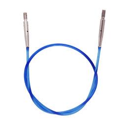 Аксессуары Knit Pro Тросик (заглушки 2шт, ключик) для съемных спиц, длина 28см (готовая длина спиц 50см), синий