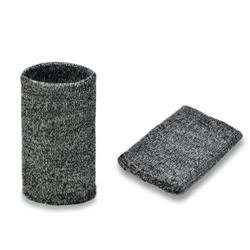 Манжеты трикотаж.акрил-100%,2 шт, серо-черн. р.7,5x10 см