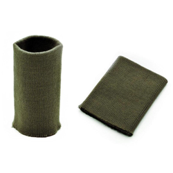 Манжеты трикотаж.акрил-100%-2 шт. хаки, р.7,5x10 см