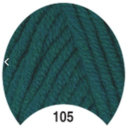 Пряжа Madame Tricote Paris Tango 105 цв. т.зеленый