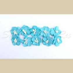 Набор цветков вишни, уп. 10 шт., (цв. бирюза)