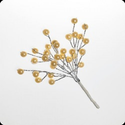 Мини-веточки с жемчужинками (цв. кремовый)