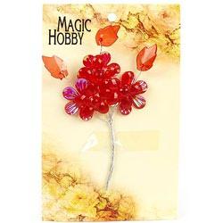 """Цветы акриловые """"Magic Hobby"""" (цв. 2 красный)"""