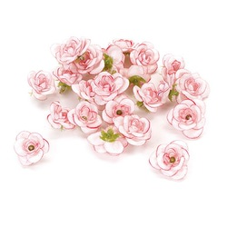 """Цветы для декорирования """"Роза"""", уп. 24 шт. (цв. бело-розовый)"""