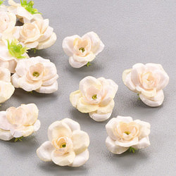 """Цветы для декорирования """"Роза"""", уп. 24 шт (цв. кремовый)"""