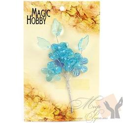 """Цветы акриловые """"Magic Hobby"""" цв. бирюза"""