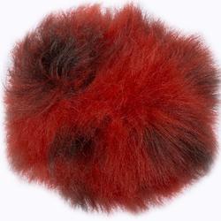 Пряжа Назар Меховой помпон 36 красный/коричневый