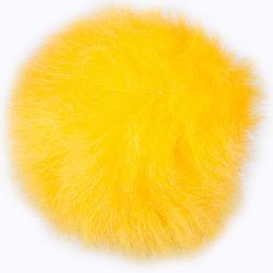 Пряжа Назар Меховой помпон 12 желтый